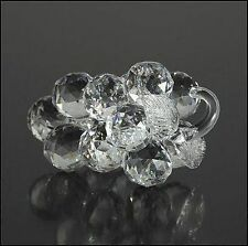 Large Crystal Faceted Bunch of Grapes Figurine,Collectable Ornament, Gift Idea
