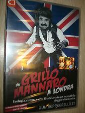 DVD UN GRILLO MANNARO A LONDRA ECOLOGIA CULTURA CRISI FINANZIARIA BEPPE