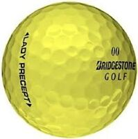 50 MINT YELLOW BRIDGESTONE LADY PRECEPT AAAAA Used Golf Balls