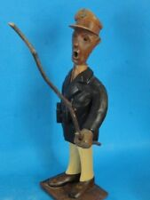 ITALIAN ROMER CARVED WOOD FIGURINE:  SAILOR WITH POLE