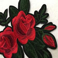 Rose Blumen gestickter aufbügeln Applikation Flicken Bekleidung Aufkleber Nähen