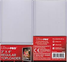 """10 ULTRA PRO TOP LOADER CLEAR 3"""" x 4"""" Regular Trading Card Protection Top Loader"""