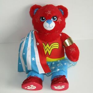 "DC Wonder Woman Build-a-Bear  16"" Plush with Costume Cape, Red Shoes & Bracelets"