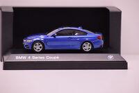 BMW Série 4 COUPE ESTORIL BLUE iScale 1/43 NEUVE EN BOITE PROMOTIONNELLE