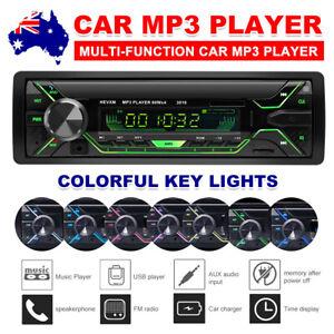 Car Stereo In-dash Bluetooth TF USB AUX FM Radio Handsfree MP3 Player Head Unit