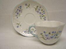 "Shelley ""Blue Rock"" English Fine Bone China Teacup & Saucer C 1938-66 VGC"