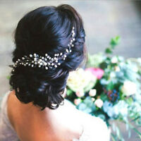 Vintage Handcraft Pearl Crystal Bridal White Hair Comb Wedding Head Piece Gift