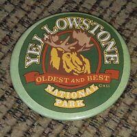 VTG Yellowstone National Park Lapel Pin Hat Cap pinback button TRAVEL SOUVENIR