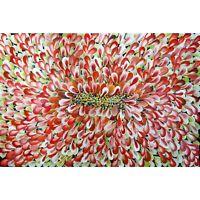 Orange Cream Green FALL SUMMER BLOOM Petals Abstract Floral Petals Original