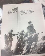 Iwo Jima Photos, Autographed By Charles Lindberg, Set Of 8 Different Photos