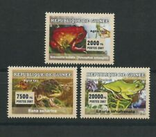 Frogs Moth Butterfly Set of 3 mnh stamps 2007 Guinea