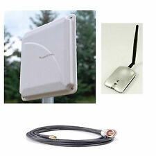 SuperLinxs WI-FI Range Booster Antenna USB Indoor Outdoor WLAN 25' Coax Cable