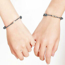 2Pcs Couple Bracelet Friendship Rope Braided Distance Magnetic Jewelry Lover Kit