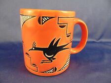 Coffee mug tea cup Waechtersbach Spain orange white ceramic Roadrunner Tex Mex