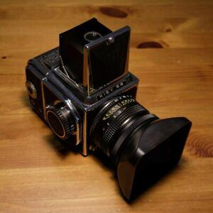 Kiev 88 + Volna-3 MC 80mm f2.8 + secondo dorso 120 + borsa, scatola e accessori