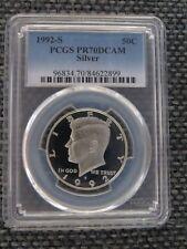 1992 S 50C SILVER Kennedy Half Dollar Proof PCGS PR70DCAM