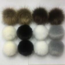 12Pcs DIY Faux Fur Fluffy PomPom Ball For Hat Bags Keychain Pendant Accessories