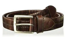 TOMMY BAHAMA Dark Brown BRAIDED LEATHER BELT Woven Mens Sz M MED  Retail $78