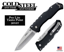 "Cold Steel 4.5"" Folding Knife Pro Lite Tanto Point 4116 Steel TRI-AD Lock 20NST"