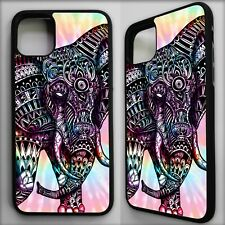 Elephant aztec tie dye colourful animal tribal pattern case cover for iphone 11