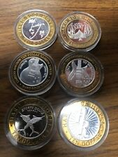 LOT OF 6 HARD ROCK CASINO $10 SILVER STRIKE HRC Sports Delux Lounge Gibson Lucky