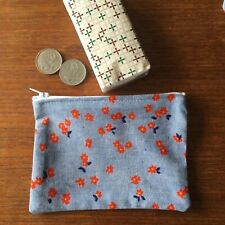 Retro Cute Flower 14 x 10 cmGirls / Ladies Australian Handmade Cotton Coin Pouch