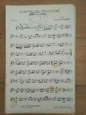 Marche de bravoure - F.Salabert - 14 partitions d'instruments différents