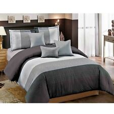 Dcp 7-Piece Comforter Sets Bedding sets Bed in a Bag,breathable,Seam Grey,King