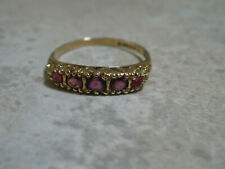 9ct Gold Ruby Ring size P