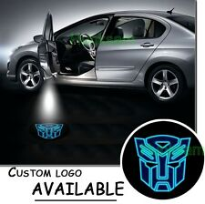Car LED Door Logo Projector Light Ghost Shadow TRANSFORMERS AUTOBOT Blue Emblem
