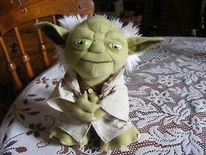 Star Wars talking YODA plush toy.