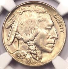 1937-D 3 Legs Buffalo Nickel 5C (Three Legged). NGC Uncirculated Detail (UNC MS)