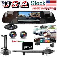 32GB 3 Lens HD 1080P Car Rear View Mirror DVR Camera Dash Cam Inside Anytek B33