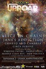 "Alice In Chains/Jane'S Addiction ""Uproar Festival"" 2013 Salt Lake Concert Poster"