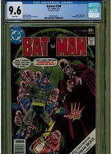 BATMAN #290 CGC 9.6 NEAR MINT + 1977 MARK JEWELERS INSERT VARIANT WHITE PAGES
