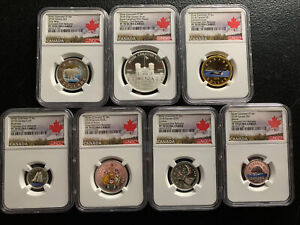 Canada 2018 Silver Colorized PF Set / NGC PF70UCAM / Beautiful & *No Reserve!