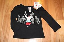 NWT Gymboree Olivia for Gymboree Black Olivia in the City Top Shirt 18-24 months