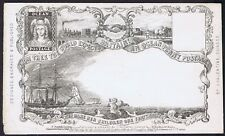 1850 Valentines Ocean Penny Post Envelope State 8 RARE Only THREE recorded