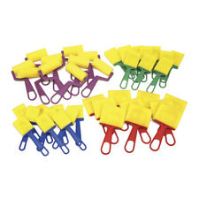 Foam Brush Classroom Pack, Assorted Colors & Sizes, 40 Pieces