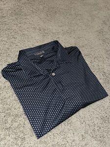 Peter Millar Summer Comfort Performance Polo Shirt All Over Printed Black XXL