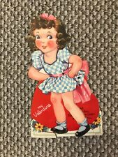 "Vintage (1940s) Valentine Card-8 1/2"" x 5"" Approximately"