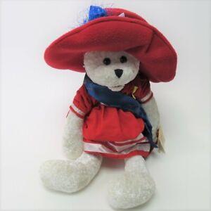 "Chantilly Lane Patriotic Betsy Bear Singing God Bless America  17"" Plush w/Tags"
