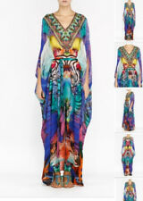 new CAMILLA FRANKS SILK CRYSTALS BELTED KAFTAN DRESS ONE SIZE layby available