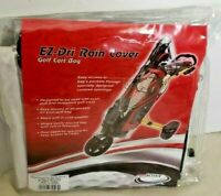 EZ-Dri Clear Vinyl Rain Protection Cover for Golf Bag on Push Pull Carts