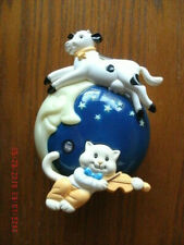 Avon Mother Goose Collection Hey Diddle Diddle Nightlight EUC auto on/off sensor
