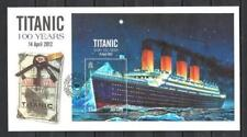 Jersey 2012 centenaire du naufrage du Titanic FDC bloc neuf ** 1er choix