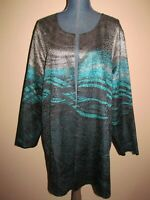 Catherines Green Reversible Textured Open Cardigan Jacket Size 1X (18/20W)