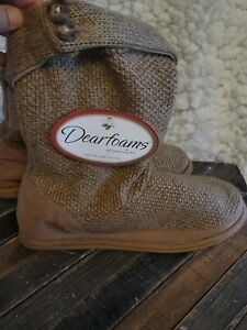 Dearfoam's Slippers Slouch Boots Size XLarge  11 /12 XL NEW