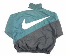 Vintage 90s Nike Air Big Swoosh On Back Full Zip Windbreaker Jacket
