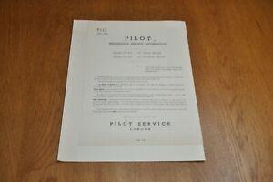 Pilot PT450 PT452 Monochrome Television Receiver Preliminary Service Manual